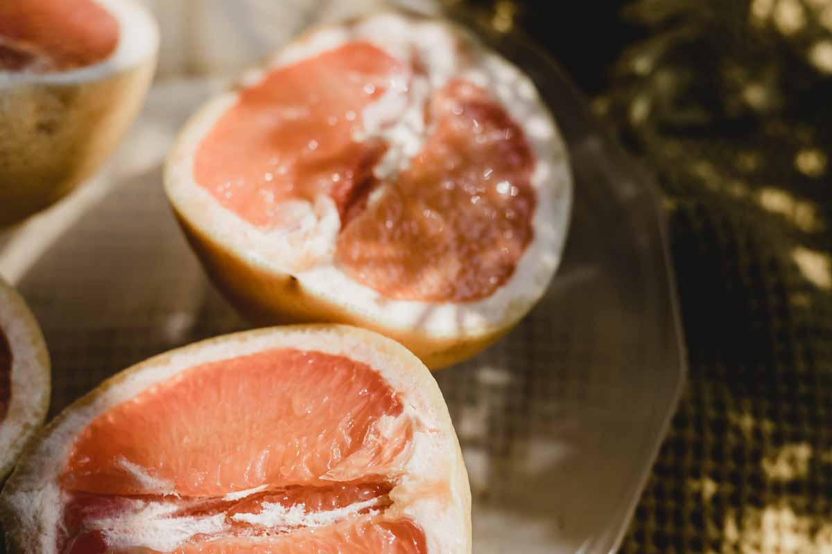 Grapefruit cut open - essential oil health benefits
